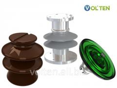 Изоляторы фарфоровые (ИОС, ИПУ, ПФ), полимерные (ЛК, ЛКЦ, ОСК, ИОСК, ППЦ), стеклянные (ПС, ПСД, ПСВ, ШС).