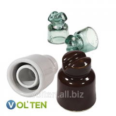 Insulators porcelain and glass low-voltage TF, NS