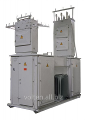 Integral transformer substations, dischargers