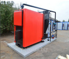 Boiler room automatic on a platform (pellet fuel)