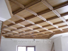 Wooden ceilings to get Kiev from the producer