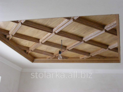 Wooden ceilings with stained-glass windows Kiev
