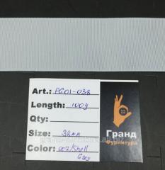 Лента белая, Арт. PG01-038