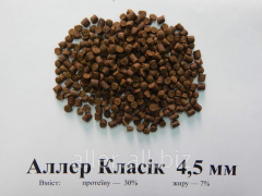 Корм для рыб Аллер Класік 4,5 мм - для коропа