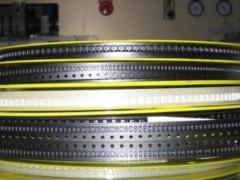 Transport tape under electronic components