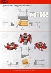 Set of mills for production of a plinth 03-215/125