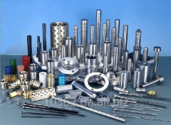 Columns, plugs, separators for stamps, compression