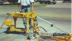 Equipment for drilling of E-Z DRILL concrete.