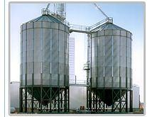 Silo with the conical bottom, hoppers