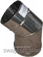 Knee for a flue odnostenny, nerzh. 100х45 °