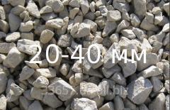 Щебень гранитный 20 - 40 мм