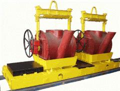 The cart transfer for transportation of ladles