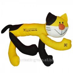 Souvenir toy of Kot yellow-black