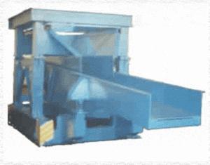 Vibroloader of / p 3000 kg for transportation and