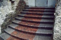Steps granite cues