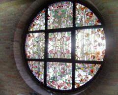 Stained-glass window solder Tiffany