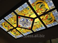 Stained-glass window ceiling