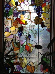 Stained-glass window art in the Dnipropetrovsk