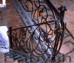 Лестницы кованые на заказ, купить кованые лестницы