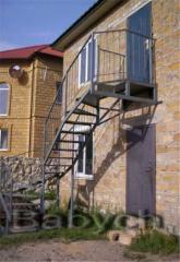 Лестницы металлические наружные и внутренние,