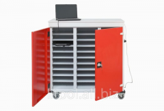 The cart metal for storage of laptops