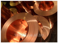 Tape copper 0.05x10-600 firm M1 of GOST 495-92