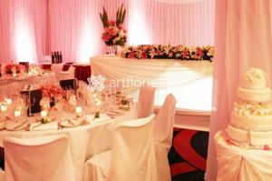 Оформление зала, украшение свадеб тканями,