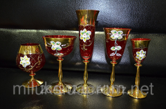 Glasses red with gold a list the Code: 01241-01245