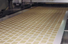 Tape food PVC with gofroborty and cross profiles