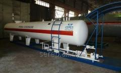 The tank for the liquefied hydrocarbonic gases