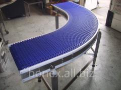 Nastro girevole cinghia in PVC, PU, modulare