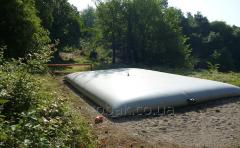 Soft pillows tanks for storage of KAS on 80 m3