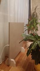 Keramiko-uglerodnaya heating panel