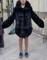 Mink coat with a hood wholesale the Code: 2028B