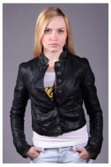 Куртки женские кожа BERSHKA