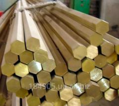 Hexagon of brass 10 L63 GOST 2060-90