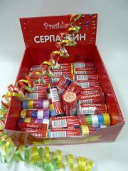 Серпантин! В упаковке 10 шт. 5 цветов! Оптовые