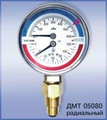Манометр с термометром ДМТ05080
