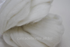 Wool for a fulling 100 white