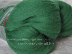 Wool for a fulling 220 emerald-green