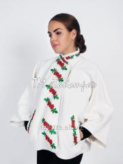 Coat female embroidered