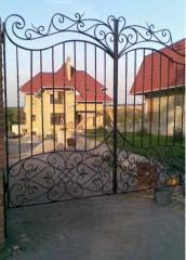 Gate shod in Zaporizhia, Ukraine. We watch new