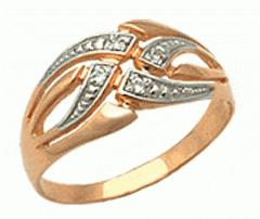 Кольцо золотое 585º пробы украшеное четырьмя