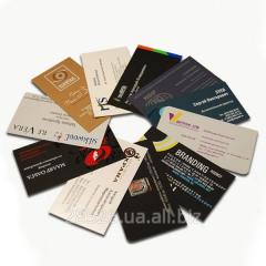 Визитные карточки односторонние (100 шт)