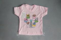 Простая и милая детская футболка «Карусель» 44,