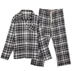 Pajamas are female, man's, flannel, cotton