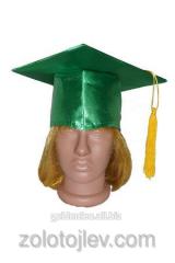 Cap graduate's konfederatka green