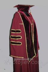 Professor's cloak claret with chevrons
