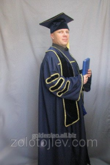 Professor's cloak with chevrons and scarf