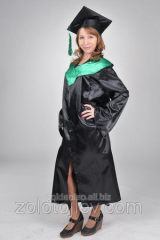 The master's cloak black with green collar